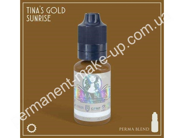 Пигмент Permabland Tinas Gold Sunrise для татуажа